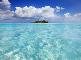 South Male Atoll in the Maldives Lmina fotogrfica por Frank Krahmer