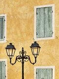 Street Light and Typical Provencal Architecture in Orange Photographic Print by Jonathan Hicks