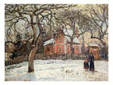 Chestnut Trees at Louveciennes Giclee Print by Camille Pissarro