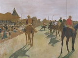 The Parade, or Race Horses in Front of the Stands Photographic Print by Edgar Degas