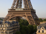 Eiffel Tower and Apartment Buildings Photographic Print by José Fuste Raga