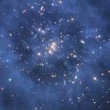 Dark Matter Ring in Galaxy Cluster Photographic Print