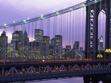 Manhattan Bridge and Skyline Photographic Print by Rudy Sulgan