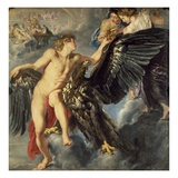The Kidnapping of Ganymede Giclée-Druck von Peter Paul Rubens