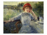 Alphonsine Fournaise at The Grenouillere Giclee Print by Pierre Auguste Renoir