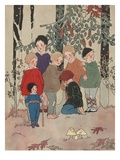 Don't Be Afraid Boys Giclee Print by Margaret Evans Price