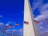 Flags Surrounding the Washington Monument Photographic Print by Blaine Harrington