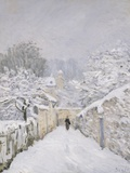 Snow at Louveciennes Photographic Print by Alfred Sisley
