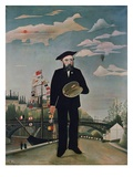 Self Portrait, from L'Ile Saint-Louis Giclee Print by Henri Rousseau