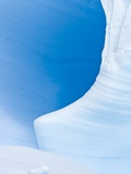 Blue Cave in Iceberg Sculpted by Waves Photographic Print by John Eastcott & Yva Momatiuk