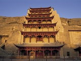 Pagoda at the Mogao Caves Fotografie-Druck von Steven Vidler