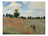 Coquelicots Reproduction proc&#233;d&#233; gicl&#233;e par Claude Monet