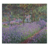 The Artist&#39;s Garden at Giverny Giclee Print by Claude Monet
