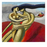 Woman Stealing a Man&#39;s Heart Gicl&#233;e-Druck von Alberto Ruggieri