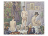 The Models Giclee Print by Georges Seurat