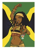 Jamaican Anime Girl Reproduction procédé giclée par Harry Briggs
