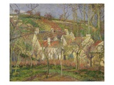The Red Roofs, or Corner of a Village, Winter Giclee Print by Camille Pissarro