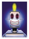Robot With Bright Idea Giclee Print by Eamon ODonoghue
