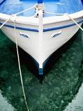 Fishing Boat at Mooring Fotografisk tryk af Randy Faris