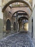 Cobblestone Streets in Ljubljana Photographic Print by William Manning