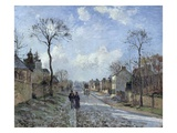 The Road to Louveciennes Giclee Print by Camille Pissarro