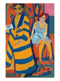 Self Portrait with a Model Giclee Print by Ernst Ludwig Kirchner
