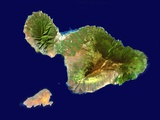 Maui and Kahoolawe Photographic Print