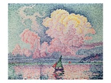 Antibes, the Pink Cloud Giclee Print by Paul Signac