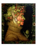 Verano Lmina gicle por Giuseppe Arcimboldo