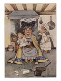 The Duchess Was Sitting on a Three-Legged Stool, Nursing a Baby Giclee Print by Milo Winter