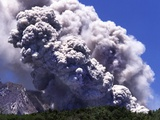 Volcano Eruption on Montserrat Photographic Print by Barry Lewis