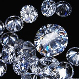Round Cut Diamonds Photographic Print by . .