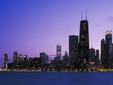 Chicago Skyline from Lake Michigan Photographic Print