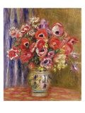 Vase of Tulips and Anemones Giclee Print by Pierre-Auguste Renoir