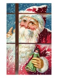 Cheery Christmas Greetings Giclee Print