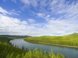 Liard River Near the Alaska Highway in Canada Photographic Print by John Eastcott & Yva Momatiuk