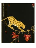 Illustration of Leopard by Maxwell Armfield Giclee Print