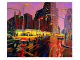 Uptown Traffic Giclee Print by Michael Bishop