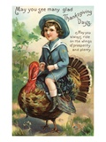 May You See Many Glad Thanksgiving Days Giclee Print
