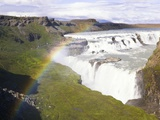 Rainbow over Gulfoss Waterfall Photographic Print by Frank Lukasseck