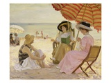 La Plage Reproduction proc&#233;d&#233; gicl&#233;e par Alfred Victor Fournier