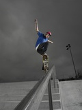 Skateboarder Performing Tricks Photographic Print