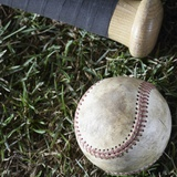 Bat and Ball Photographic Print by Sean Justice