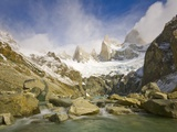 Mountain Stream Rapids in Los Glaciares National Park Photographic Print by John Eastcott & Yva Momatiuk