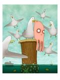 Poor Little Calamari Giclee Print