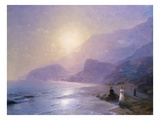 Pushkin at the Water's Edge Giclee Print by Ivan Aivazovsky