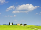 Chapel and Farmhouse on Hill Photographic Print by Frank Lukasseck