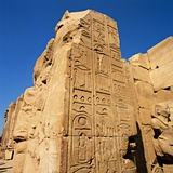 Hieroglyphics at Temple of Karnak Photographic Print by So Hing-Keung