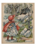 The Wolf Finds Little Red Riding Hood Giclee Print