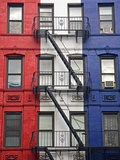 Red, White, and Blue Apartment Building Photographic Print by Richard Cummins